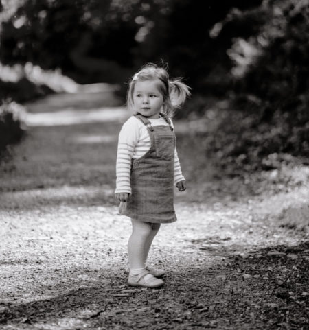 Child standing in Black and White Photo - Portrait Photography Plymouth