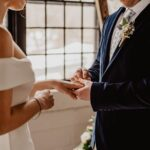 Wedding couple holding hands - Plymouth Wedding Photographer - Perfect Story Photography